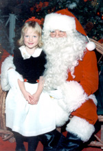 Katie and Santa